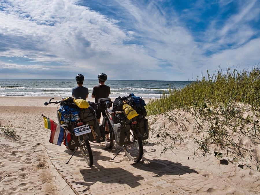 We fietsten van de Egeïsche zee naar de Oostzee