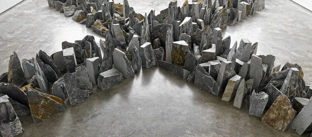 Richard Long, Four ways, 2014, Lisson Gallery